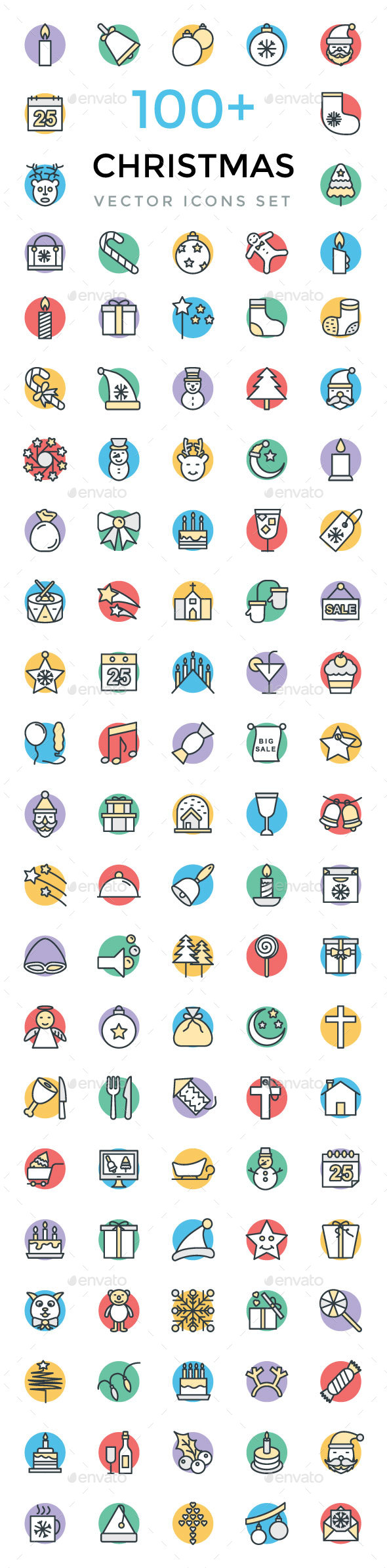 100+ Christmas Vector Icons - Icons