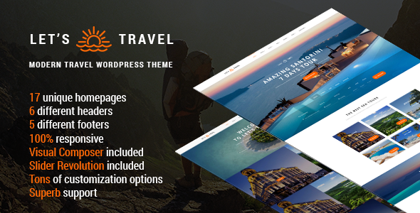 Let's Travel – Responsive Travel Booking Site WordPress Theme