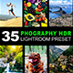 35 Photography HDR Lightroom Preset - GraphicRiver Item for Sale