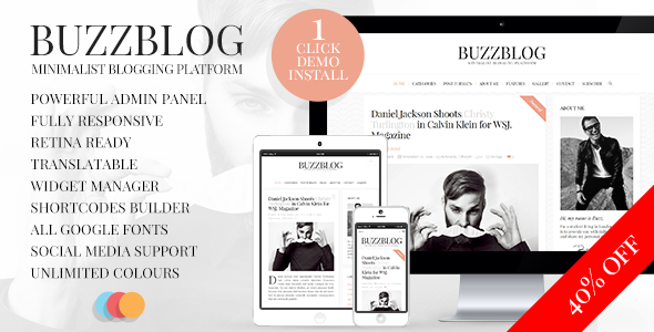 BuzzBlog - Clean and Personal WordPress Blog Theme