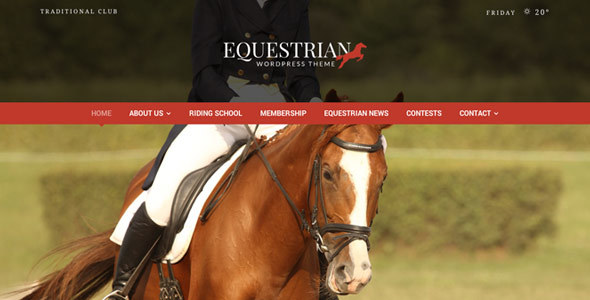 Equestrian - Horses and Stables WordPress Theme - Miscellaneous WordPress