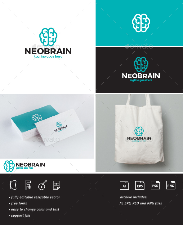 Neo Brain Logo - Symbols Logo Templates