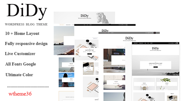 DiDy – Multipurpose Responsive WordPress Blog Theme
