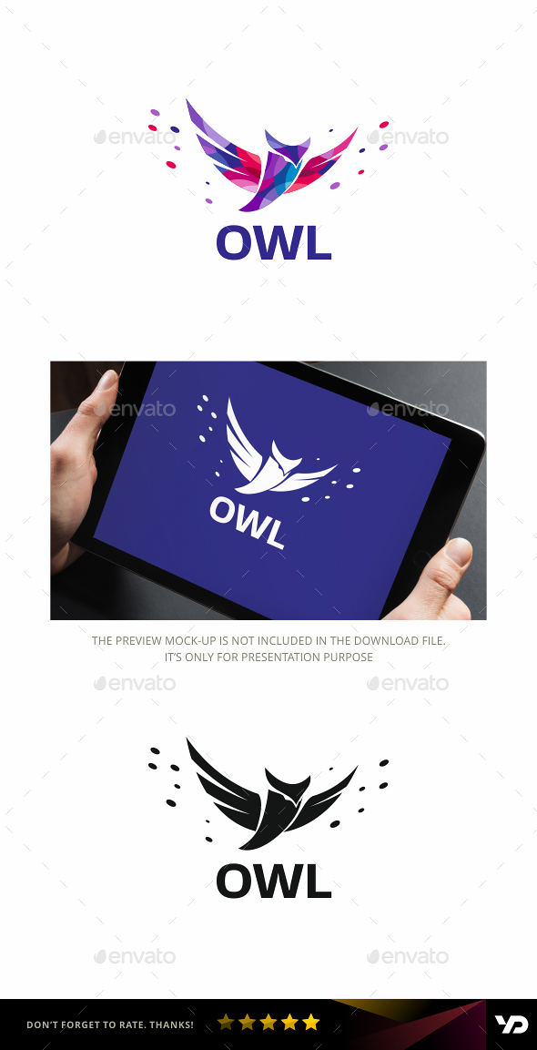 Owl - Animals Logo Templates