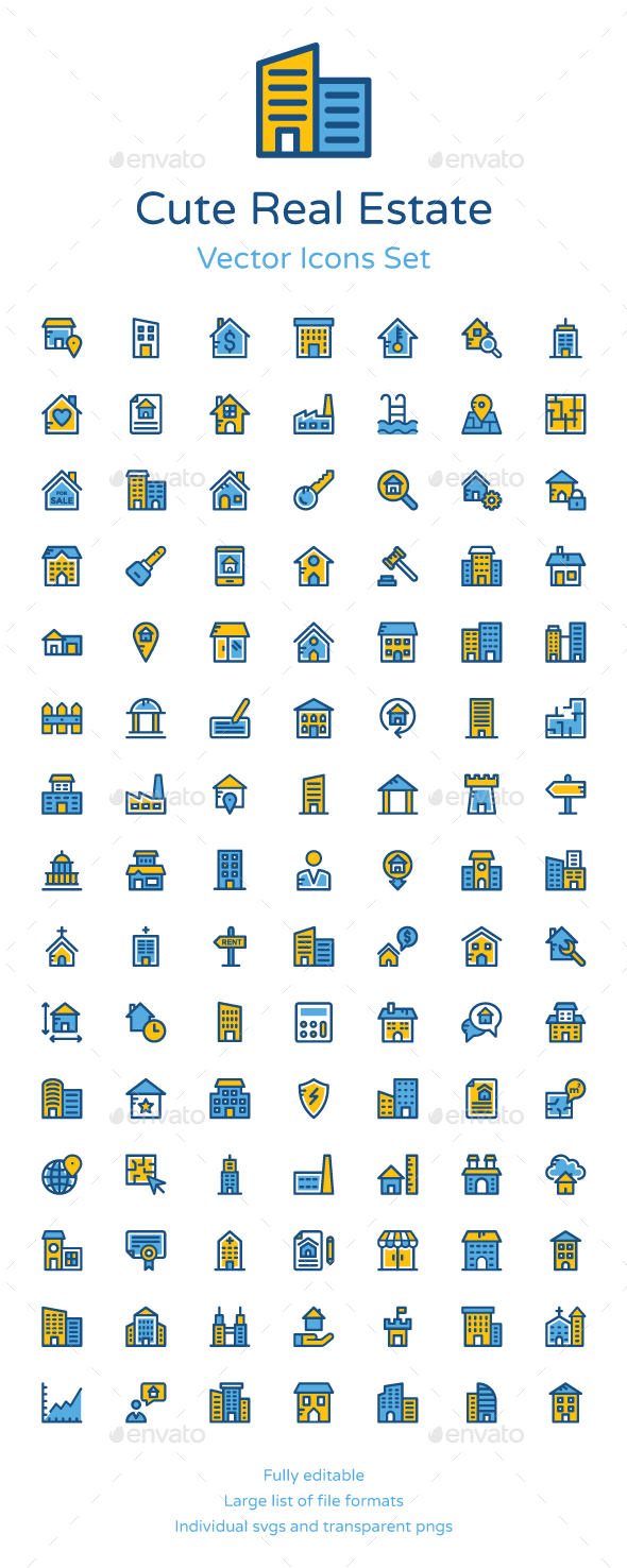 100+ Cute Real Estate Icons - Icons