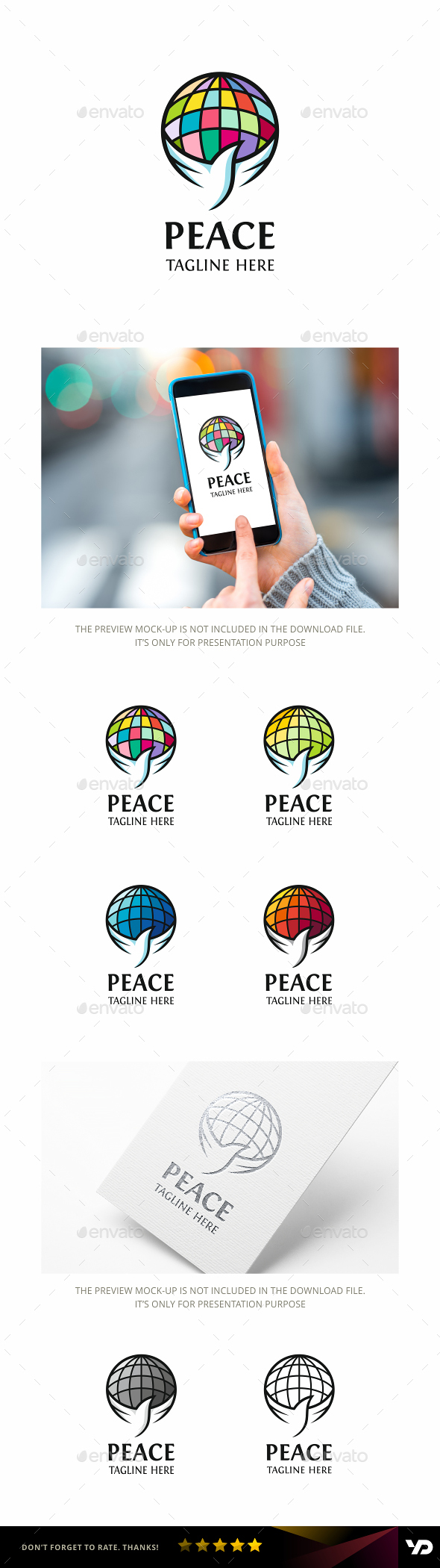 Peace - Animals Logo Templates