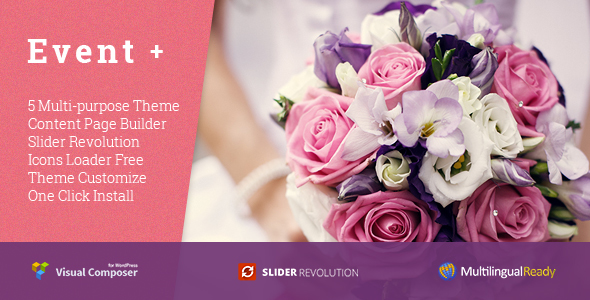EventPlus – Wedding  WordPress Theme
