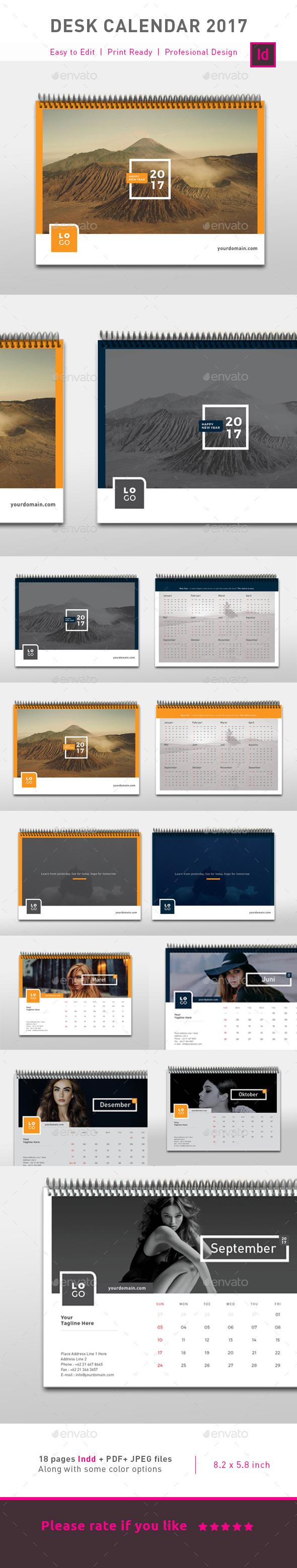 Clean Calendar 2017 - Calendars Stationery