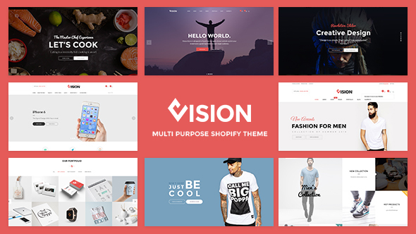 Vision – Clean DRAG and DROP Fashion, Digital Shopify Theme