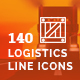 Logistics Delivery Line Icons - GraphicRiver Item for Sale