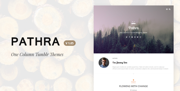 Pathra | One-column Focused Blogging Theme