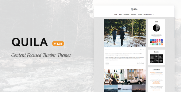 Quila | Clean Content-Focused Tumblr Theme - Blog Tumblr