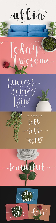 Allia Typeface - Script Fonts