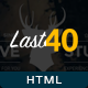 Last 40 Creative Website Template - ThemeForest Item for Sale