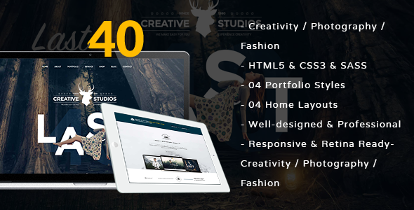 Last 40 Creative Website Template