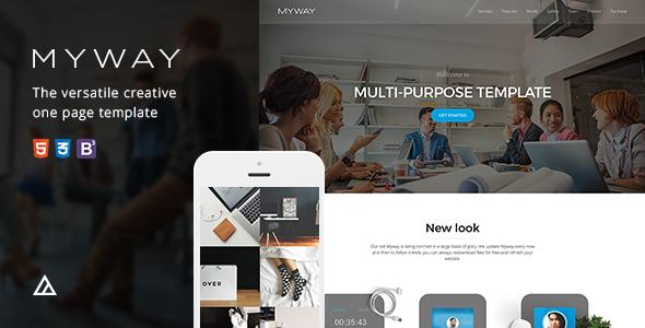 Myway – Joomla Responsive Onepage Template