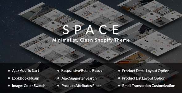 Space – Minimalist, Clean – Furniture, Fashion Shopify Theme