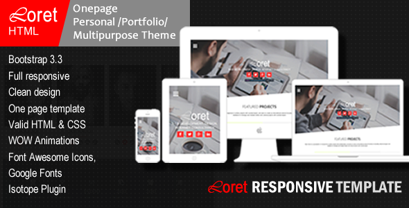 Loret- Multi-Purpose HTML Template - Portfolio Creative