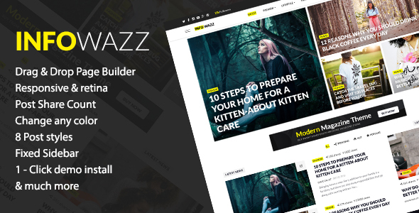 InfoWazz – WordPress Theme for Blog / Magazine / Newspaper