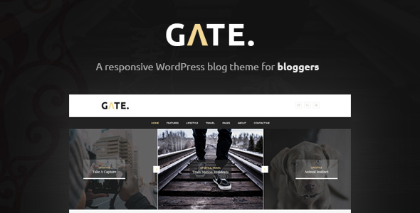 Gate – A Responsive WordPress Blog Theme