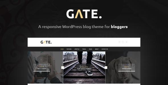 Gate - A Responsive WordPress Blog Theme - Personal Blog / Magazine