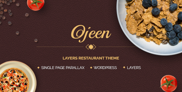 Ojeen - Layers Restaurant WordPress Theme - Restaurants & Cafes Entertainment