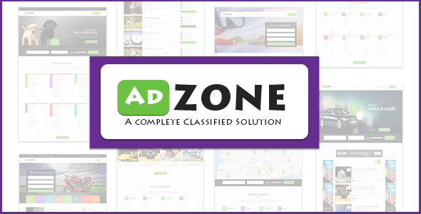 AdZone – A Complete  Classified Ads Solution HTML Template