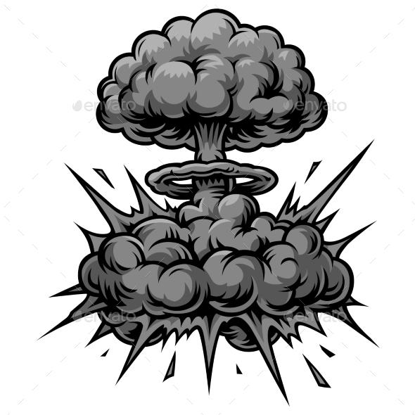 Vector Monochrome Comics Icon - Decorative Symbols Decorative