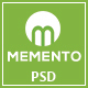 MEMENTO - One page Personal Portfolio PSD Template - ThemeForest Item for Sale