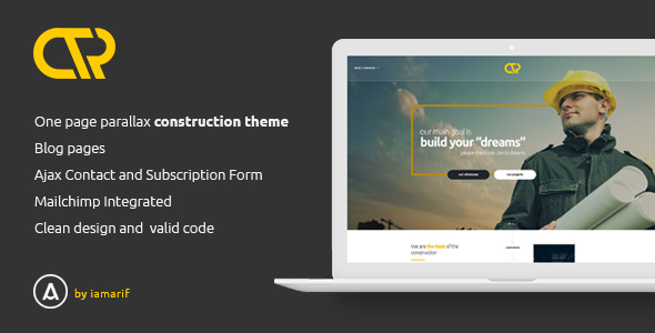 Consta One Page Construction Html Template By Iamarif Themeforest