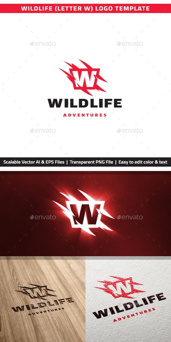 "Wildlife Letter ""W"" Logo - Letters Logo Templates"