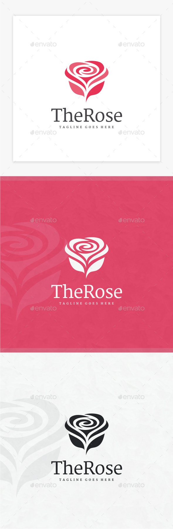 Rose Logo - Nature Logo Templates
