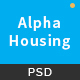 Alpha Housing - Real Estate PSD Template Nulled