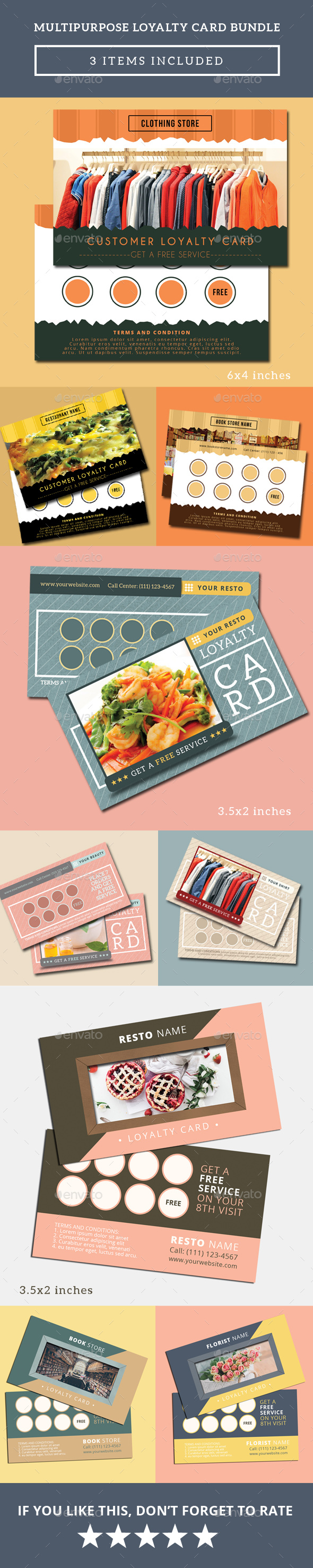 Multipurpose Loyalty Card Bundle - Loyalty Cards Cards & Invites