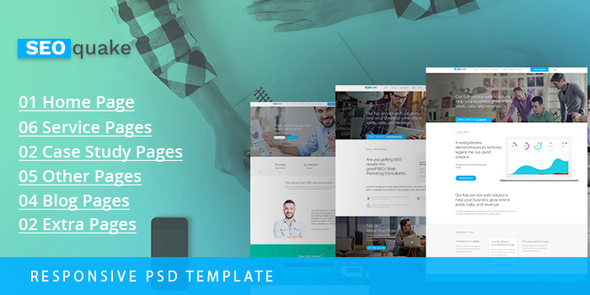 SEO quake – SEO & Digital Marketing Agency – PSD Template