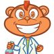 Monkey Professor Cartoon - GraphicRiver Item for Sale