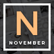 November - A WordPress Blog Theme Nulled