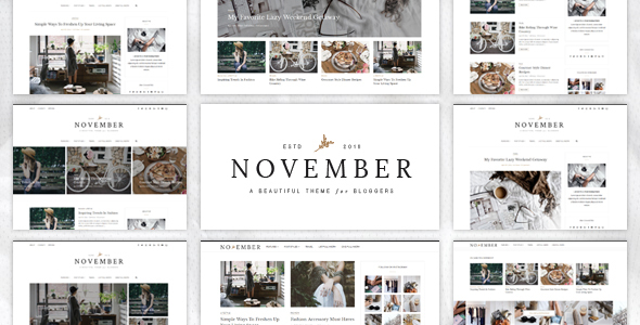 November - A WordPress Blog Theme - Personal Blog / Magazine
