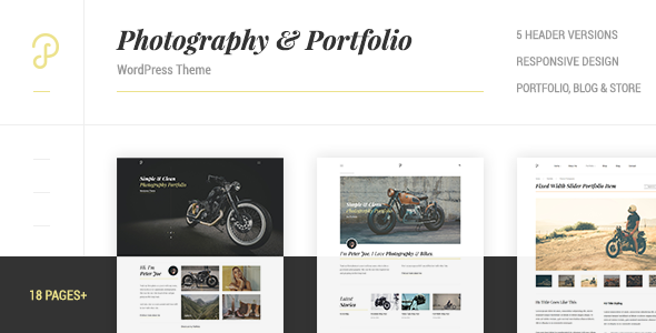 P Dojo - Photography and Portfolio Clean Minimalistic WordPress Theme - Photography Creative
