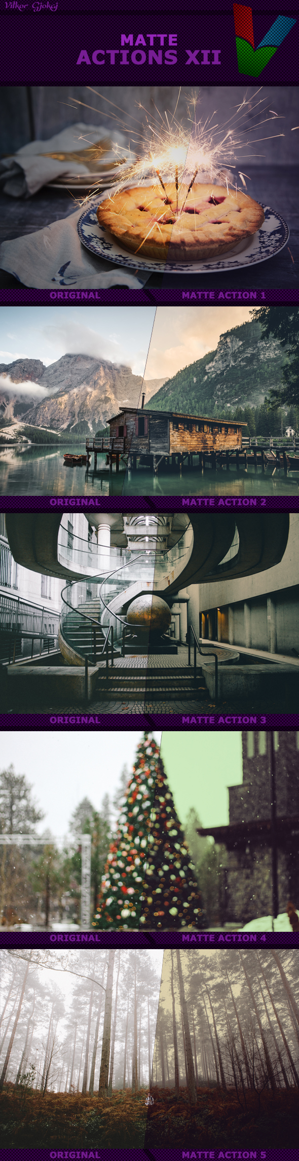 Matte Actions XII - Photo Effects Actions