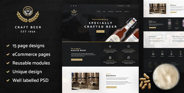 Craft Beer Nation PSD