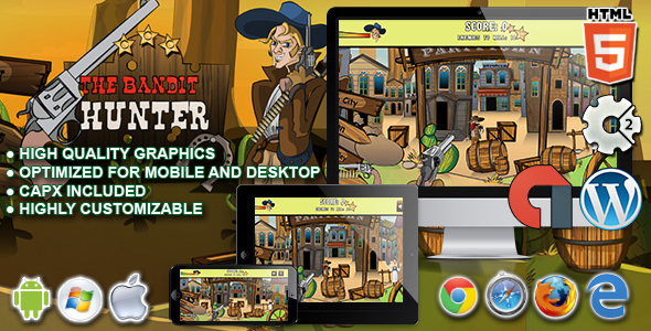 The Bandit Hunter - HTML5 Construct 2 Game - CodeCanyon Item for Sale