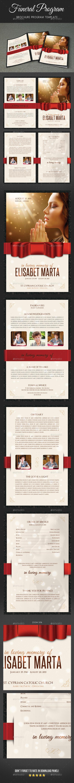 Funeral Program Brochure Template V04 - Informational Brochures
