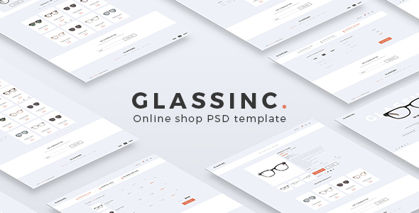 Glassinc - Ecommerce PSD Template - Shopping Retail