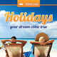 Holiday Vacation Rollup Banner