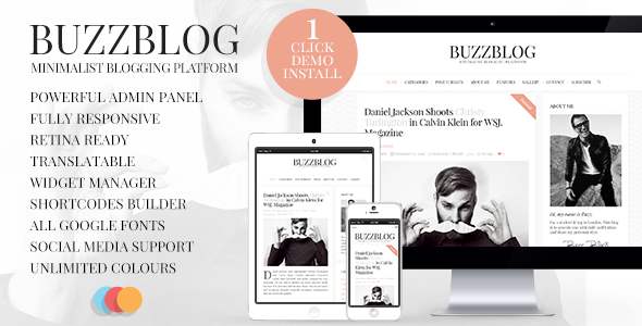 BuzzBlog - Clean and Personal WordPress Blog Theme - Personal Blog / Magazine