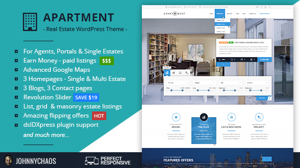 Apartment WP – Real Estate Responsive WordPress Theme for Agents, Portals, Single Property Sites
