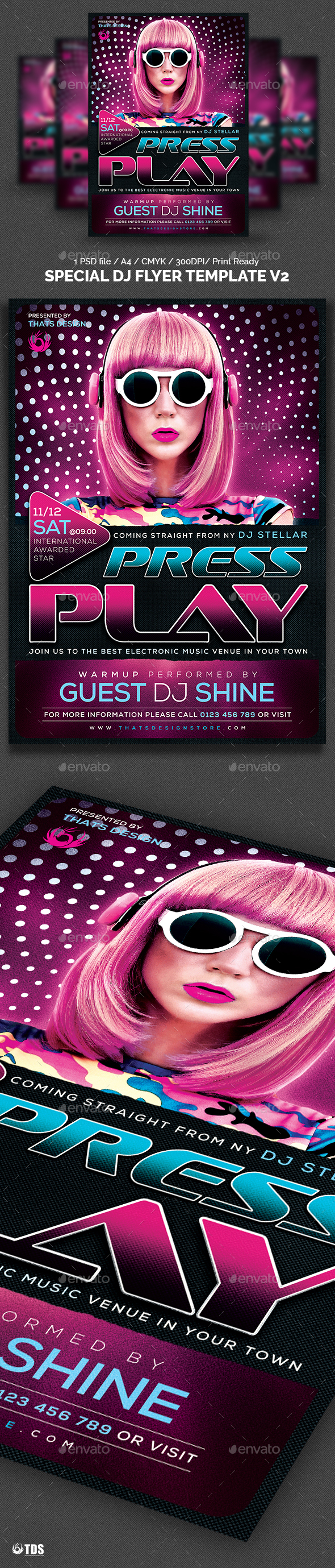 Special DJ Flyer Template V2 - Clubs & Parties Events