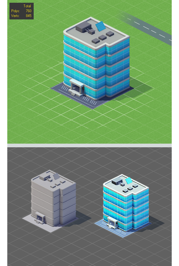 Low Poly Hotel Mini Game - 3DOcean Item for Sale