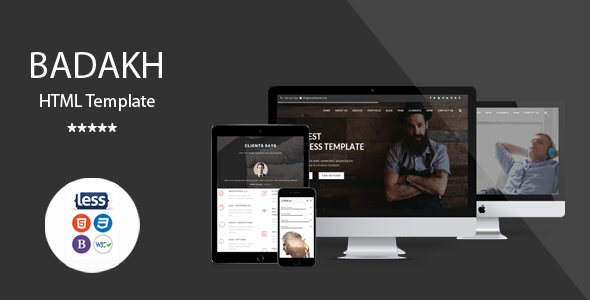 Badakh – Multipurpose One/Multi Page Template